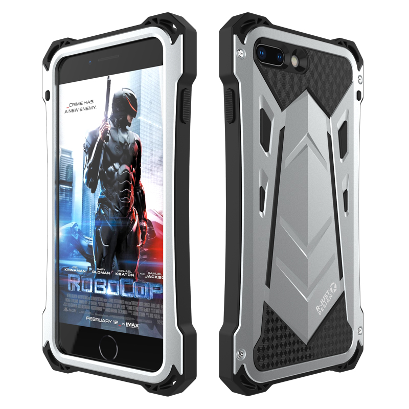 IP54 Waterproof Case For iPhone 8 7/ Plus Metal + Silicone + Tempered Glass Armor 360 Full Heavy Duty Protection Back Cover Case