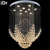 Villa living room crystal lamps floor stairs in the hotel lobby engineering crystal chandeliers light clothing Duplex iDr-0010