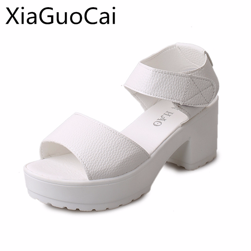 Women Sandals Fashion White Female Platform Sandals Woman's Summer Footwear Summer Beach Shoes Ladies High Heels