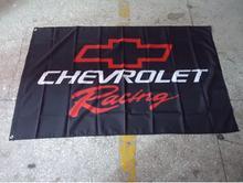 chevrolet racing 3ft x 5ft Polyester   90*150CM Custom Flag