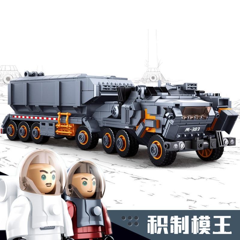 Oyuncaklar ve Hobi Ürünleri'ten Bloklar'de 832 adet çocuk eğitim binası blokları oyuncak Uyumlu Legoingly şehİr Ağır taşıma aracı taşıyıcı askeri araç hediye'da  Grup 1