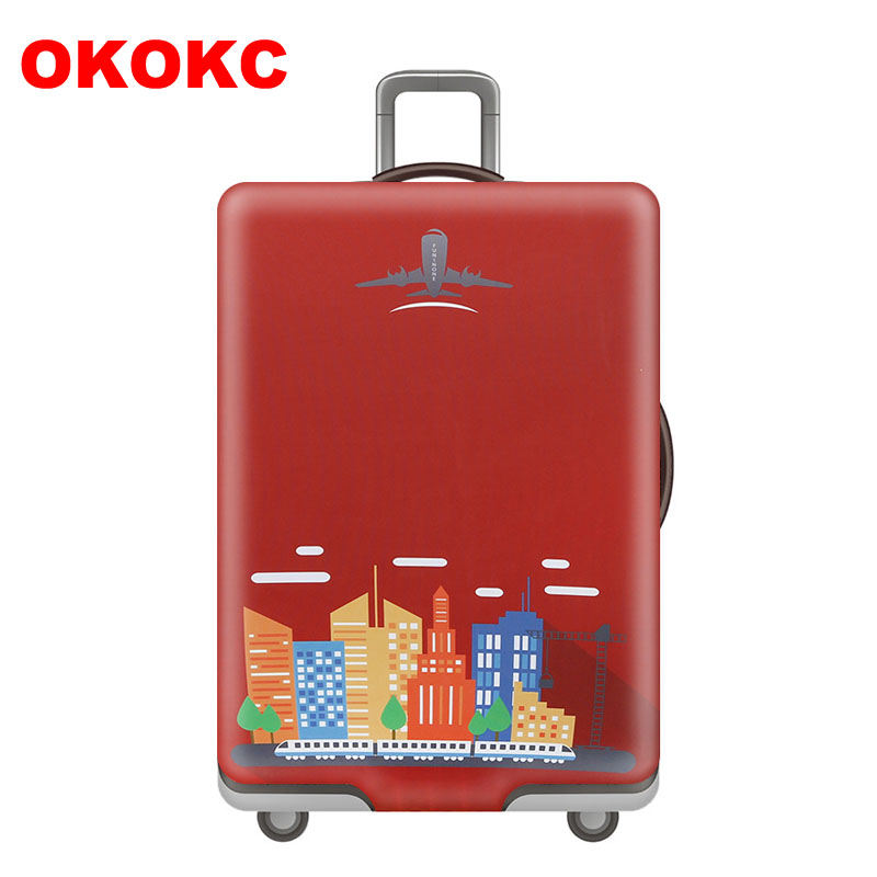OKOKC Red Travel Elasticity Luggage cover Suitable for Cover For 18 to 32 inch Trolley suitcase Dust cover Travel accessories