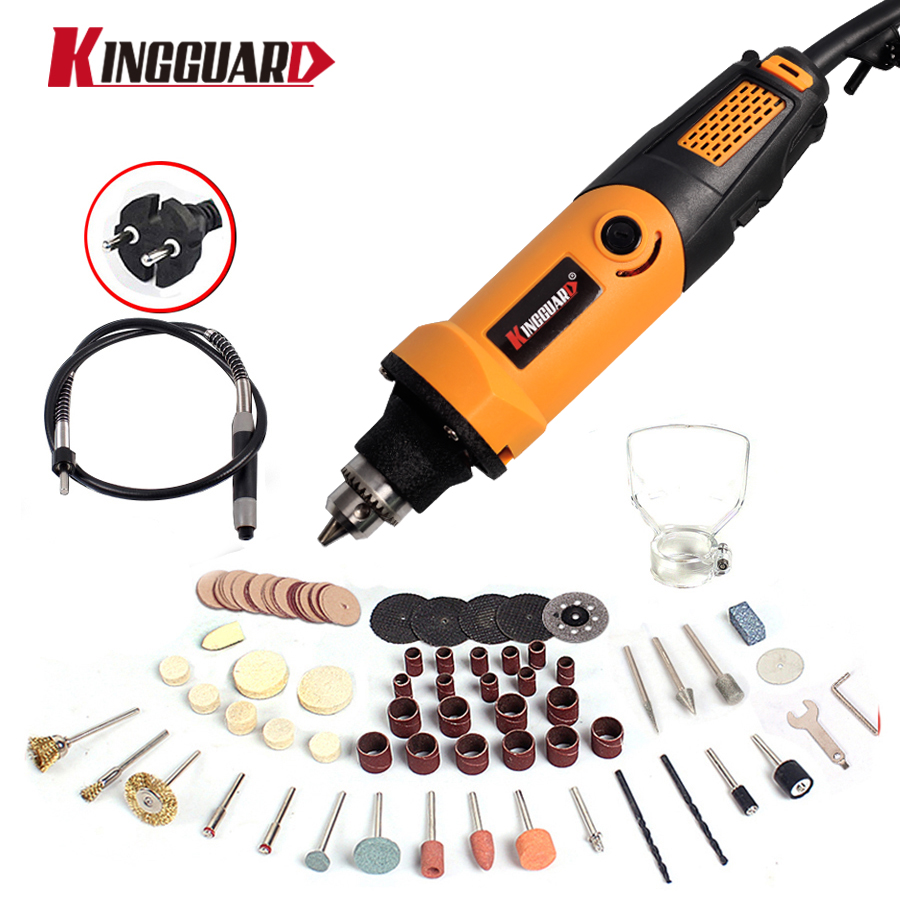 Kingguard 400W Mini Electric Drill with 6 Position Variable Speed Dremel style Rotary Tools Mini Grinder Grinding Machine