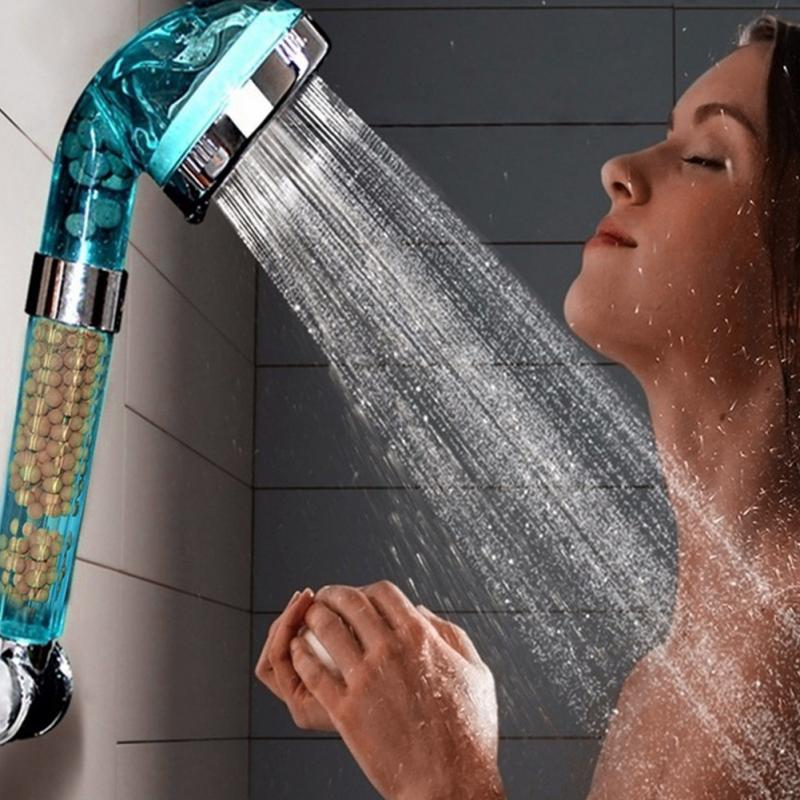 Blue Anion SPA Water Saving Bathroom Shower Head Filtration Handheld Nozzle Shower Heads