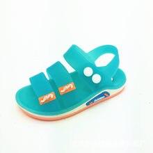 bff049b6c7c PVC カジュアル子供サンダル夏の幼児の男の子ビーチ靴ソフト通気性クール快適な子供男性ゼリーサン