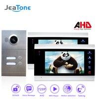 720P AHD 7 Video Door Phone Intercom 4 Wired Door Bell Door Speaker Security System Voice