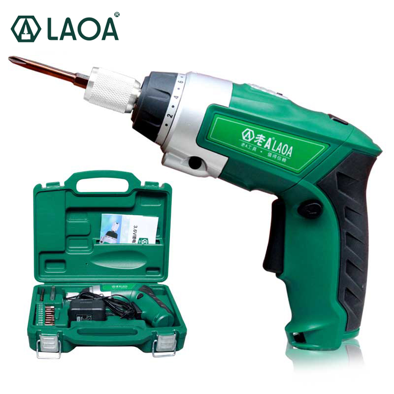LAOA 3.6V Li-ion Battery Rechargeable Electric Screwdriver Set Waterproof Cordless Electrical Dril Twistable Handlel With Bits 36v 4400mah 4 4ah dynamic li ion lithium ion rechargeable battery for self balance electric scooters power bank