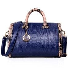 2015 nueva Moda PU bolso de cuero damas Serpentina tote bolsa de Hombro bolsos de las mujeres famosas marcas Bolso de Las Mujeres bolsa a22