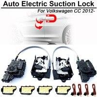 Carbar умный авто автомобиль электрическое всасывание дверной замок для Volkswagen VW куб. см, автомат мягкий закрыть Супер тишина самовсасывающая д