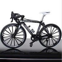 1:10 Scale Metal Road Bicycle Model Toys Curved Racing Cycle Cross Mountain Bike Replica Collection Diecast for Children's Gift