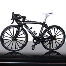 1:10 Scale Metal Road Bicycle Model Toys Curved Racing Cycle Cross Mountain Bike Replica Collection Diecast for Children's Gift 1 10 scale alloy diecast racing bike w basket