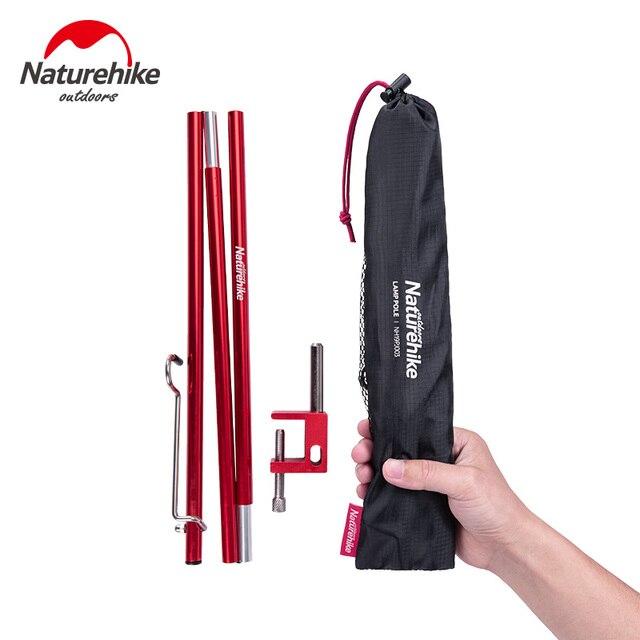 Naturehike Portable Folding Lamp Pole Ultralight Hiking Camping Aluminum Alloy Small Light Pole Travel Picnic 230g