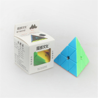 3 Style MoYu Magnetic Pyramid Triangle Pyraminx Magic Cube Black White Color Puzzles Cubes Educational Toy
