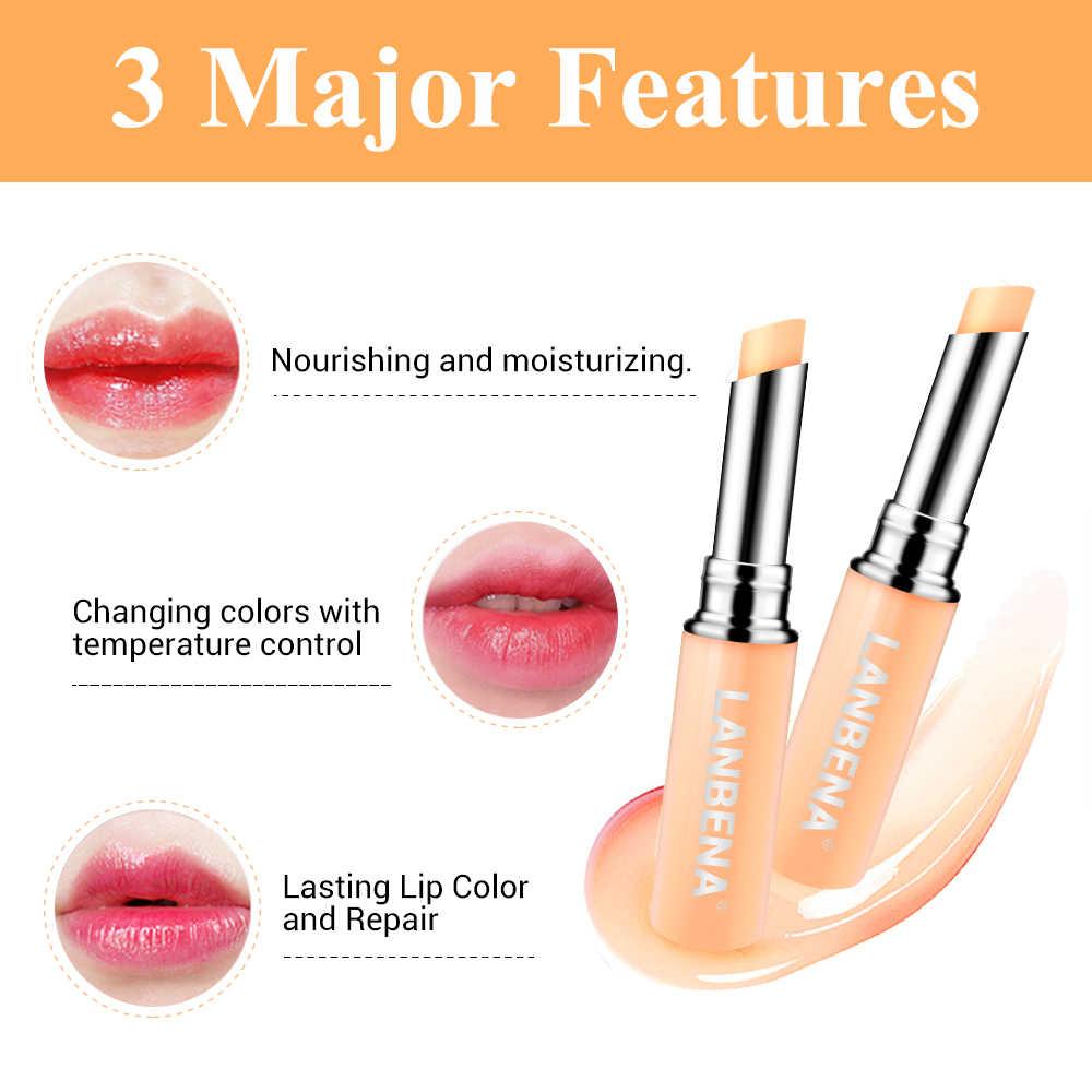 LANBENA זיקית מזין שפתון לחות שפתיים שמנמן להפחית קמטוטים מזין שפתון איפור טיפוח עור יופי