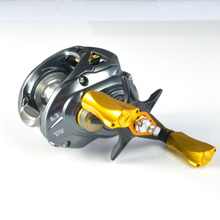 6g Reel Handle Knob For Shimano Daiwa Okuma Low Profile Baitcasting Reel Super Light Direct Fitment Smoke Gomexus Free Shipping