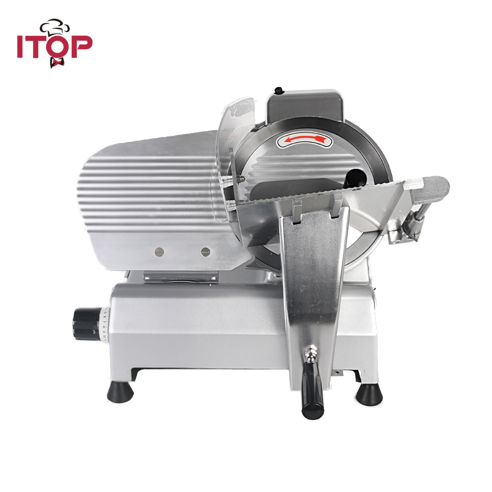 ITOP Commercial Frozen Meat Mincer Slicer Ham Cutter 110V 220V Semi-automatic Easy Operation Machine with 10inchs Blade itop 10 blade premium meat slicer electric deli cutter home kitchen heavy duty commercial semi automatic meat cutting machine