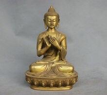 11.8 China Tibet Shakyamuni Buddha Bronze Brass Statue Figurine