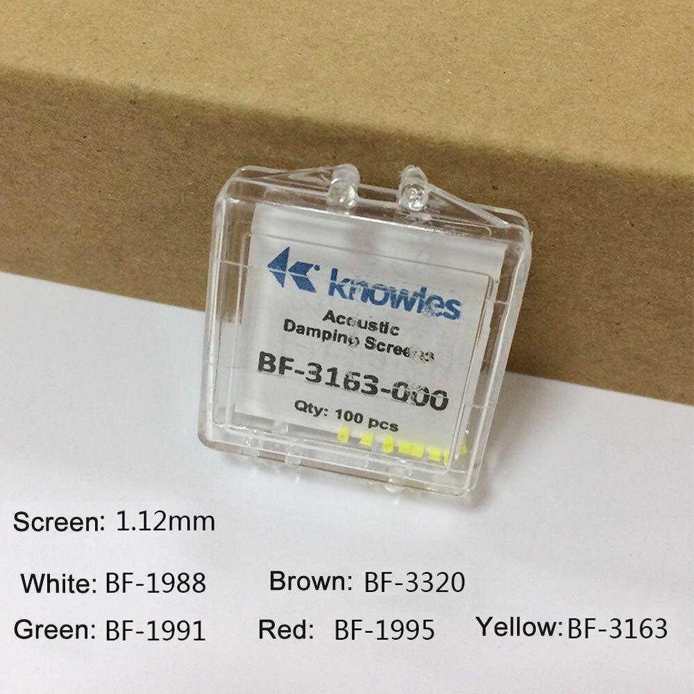 2 Stücke Knowles Akustische Dämpfung Dämpfer Filter Stecker Bildschirm 1,12mm