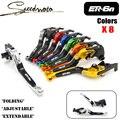 8 colores cnc frenos de la motocicleta palancas de embrague para kawasaki er6n er-6n 2009 2010 2011 2012 2013 2014-15 accesorios envío gratis