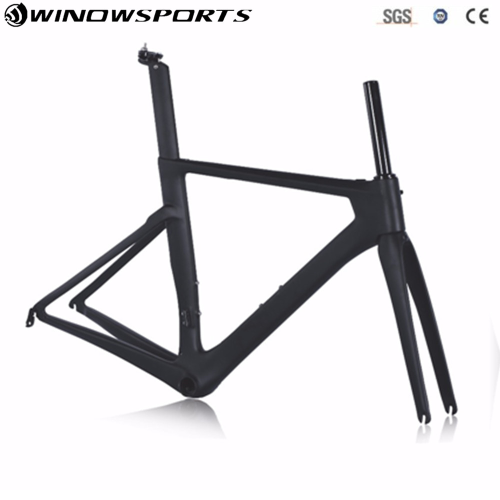 carbon road Frame Aero carbon bicycle bike frame XS S M L carbon aero road frame Di2 Carbon Road Bike Frame Super Light Bike 2018 top t800 full carbon road frame ud glossy road bike frames carbon di2 climbing fork seat post clamp bb86 glossy xs s m l