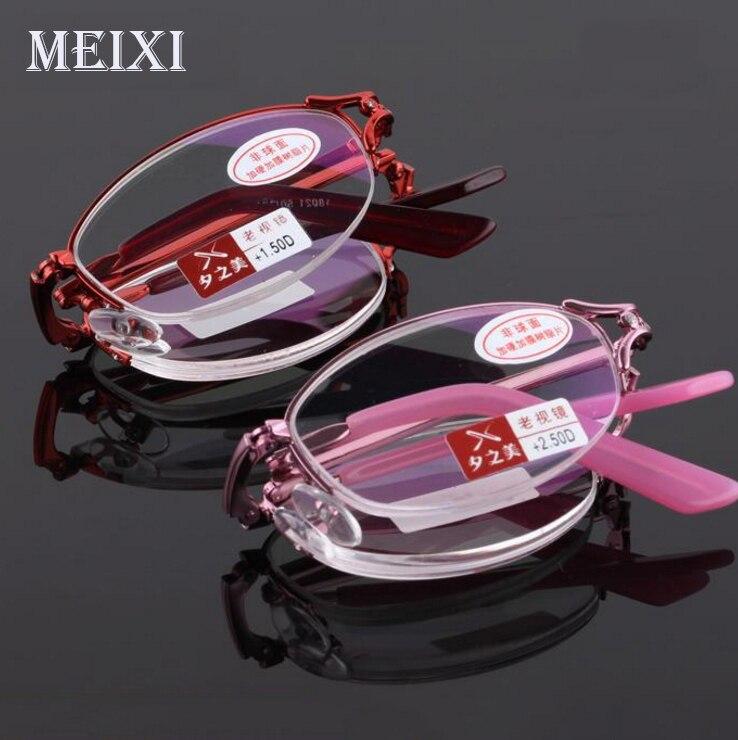 Dobrável resina Asférica filme Mais Vermelho Rosa Mulheres Óculos de Leitura  Óculos Da Moda 1.0 1.5 2.0 2.5 3.0 3.5 4.0 em Óculos de leitura de  Acessórios ... bbe1594fc5