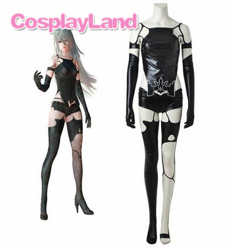 Spiel NieR Automata A2 Cosplay Kostüm YoRHa Typ A Keine. 2 Sexy Cosplay Outfit Frauen Halloween Schwarz Anzug Nach Maß