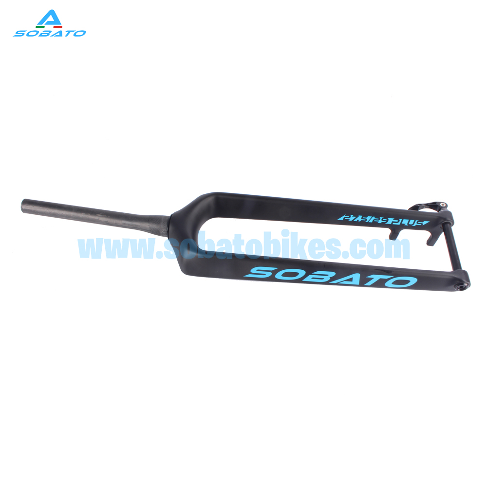 SOBATO carbon 29ER 27.5er plus MTB Rigid fork thru axle with 110*15mm axle for 3.0 tire