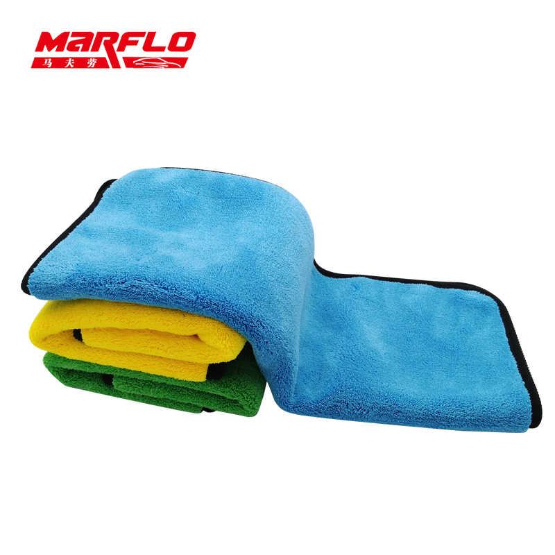 Marflo 洗車タオル車のクリーニングクロスマイクロファイバーケアワックス研磨ディテールタオル