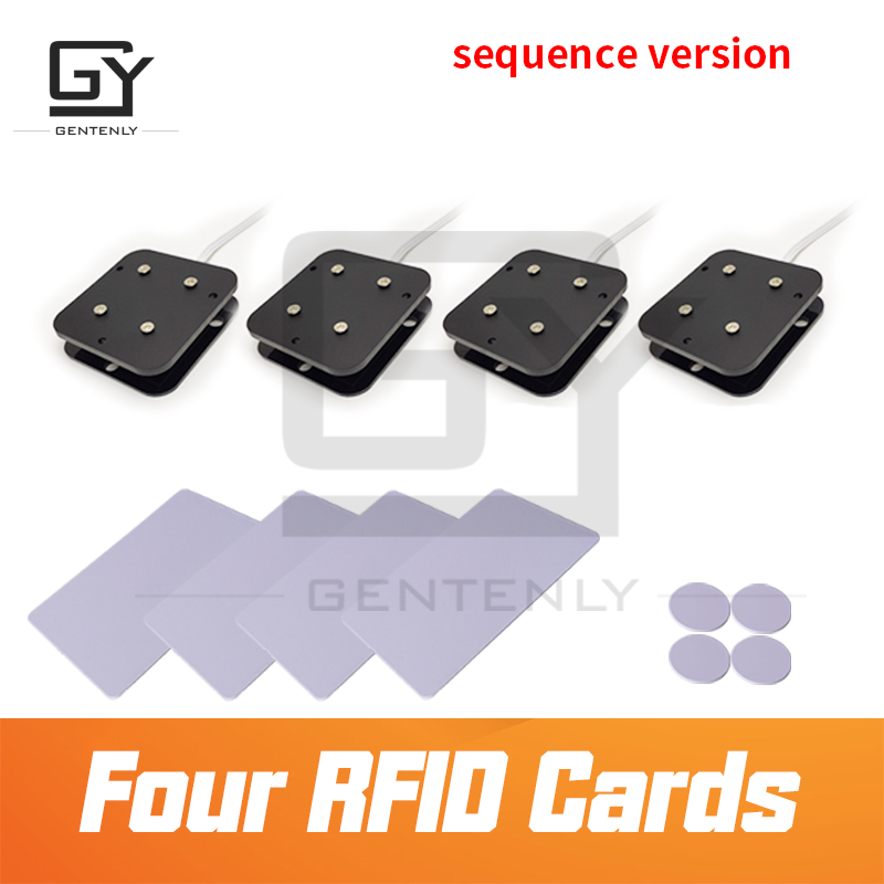 Escape room props RFID Card Puzzle sequential version place ID card on sensor with correct order