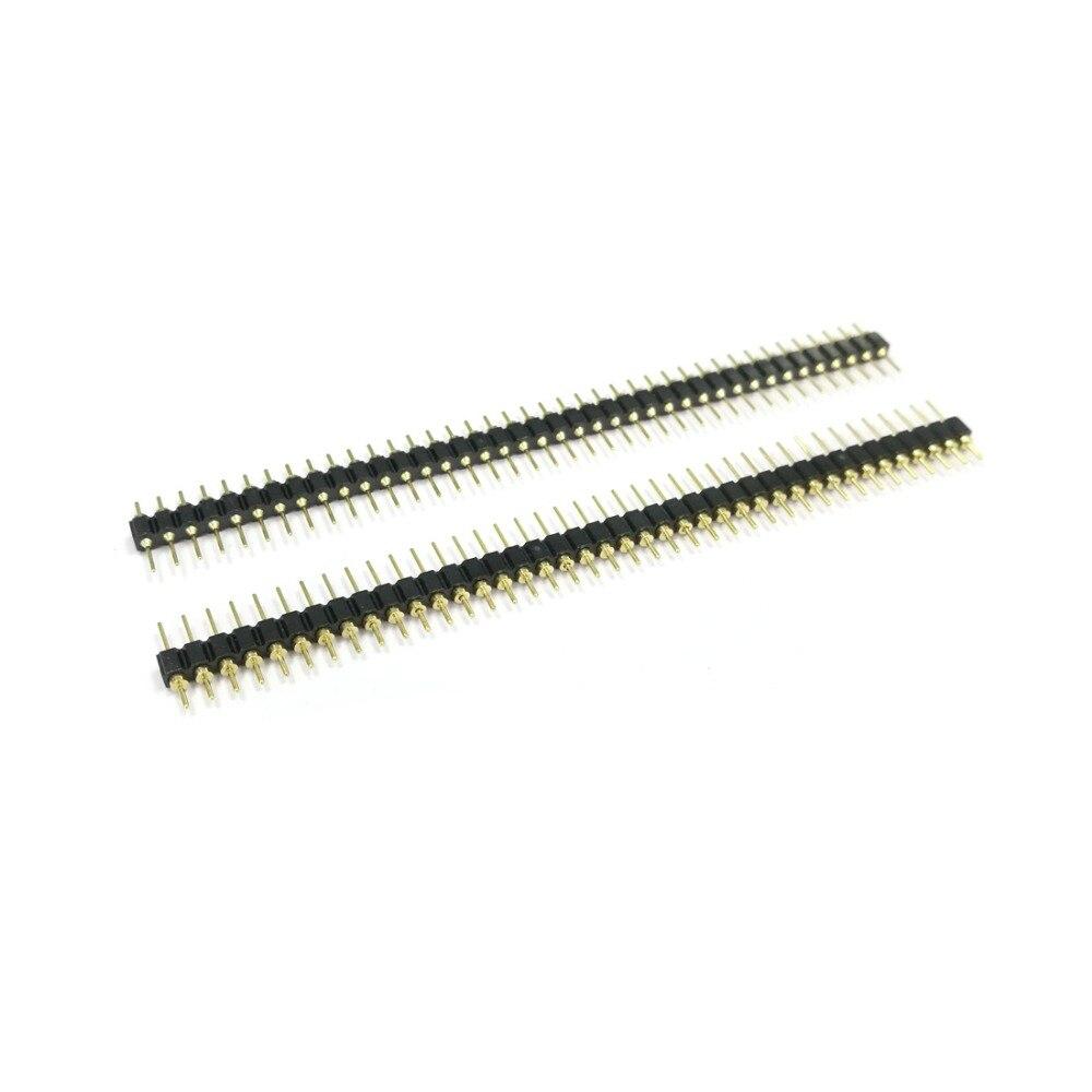 5pcs single row round hole needle 1x40p 40pin 2.54mm pitch straight NEW