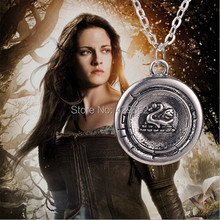 Wholesale 20PCS/LOT Snow White Once Upon A Time Emma Swan Talisman Pendant Necklace Antique Silver(China)