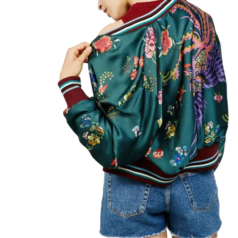 X25 ladies european style vintage floral print long sleeve stand ...