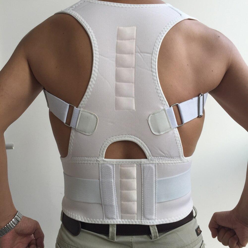Cinturón magnético para el dolor de espalda hombro banda apoyo escoliosis Corrector de postura cinturón corsé Plus tamaño alivio de dolor de los hombres