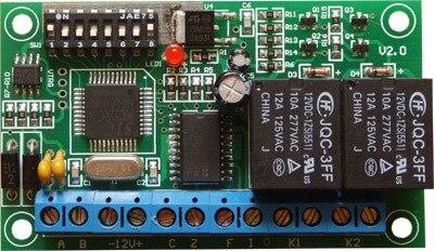 imágenes para Protocolo RS485 PELCO decodificador lente de control de luz infrarroja limpiaparabrisas interruptor de salida de relé de 2 vías