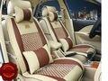 Nuevo estilo de Cuero de Lujo Del Asiento de Coche Cubiertas Frontal y Trasera Completa para Nissan Sentra Rogue Versa Cube X-trail qashqai 5 Asientos
