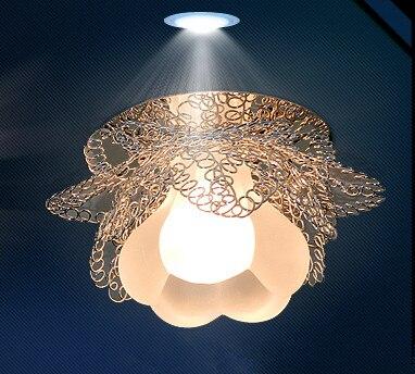 3w LED lighting chandelier lamp for living room home modern hallway light ceiling crystal lampshade led panel 220-240V abajur