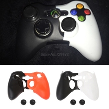 Double-Color Silicone Cover Joystick Gel Skin Soft Protective Case for XBOX 360 Controller Gamepad Electronics Stocks