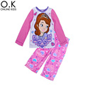 Sofia Girl Pyjamas Set Cartoon Sofia Princess Sleepwear 2017 Brand Kids Warm Pajamas Sets Cartoon Girls Winter Clothing vetement