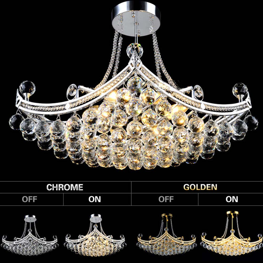 Creative boat shape luxury crystal chandeliers european classic creative boat shape luxury crystal chandeliers european classic wedding lighting indoor foyer lamp home decor free shipping in chandeliers from lights arubaitofo Images