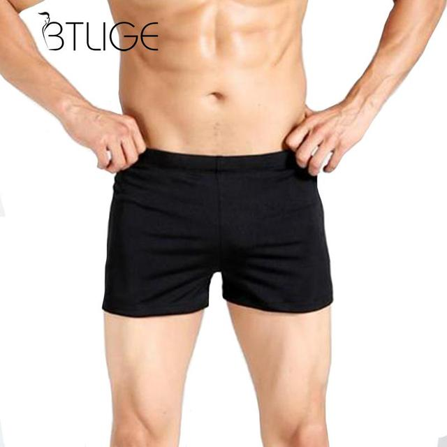 72a42584bf BTLIGE Fitness Men's Swimwear Trunks Summer Surfing Swimming Boardshorts Men  Black Waterproof Underwear Male Swim Shorts