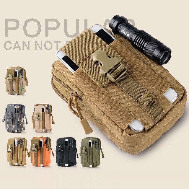 Universal Coldre Tático Militar Molle Ao Ar Livre Hip Cintura Cinto Saco Bolsa Carteira Casos de Telefone Bolsa Para iPhone HTC LG Samsung