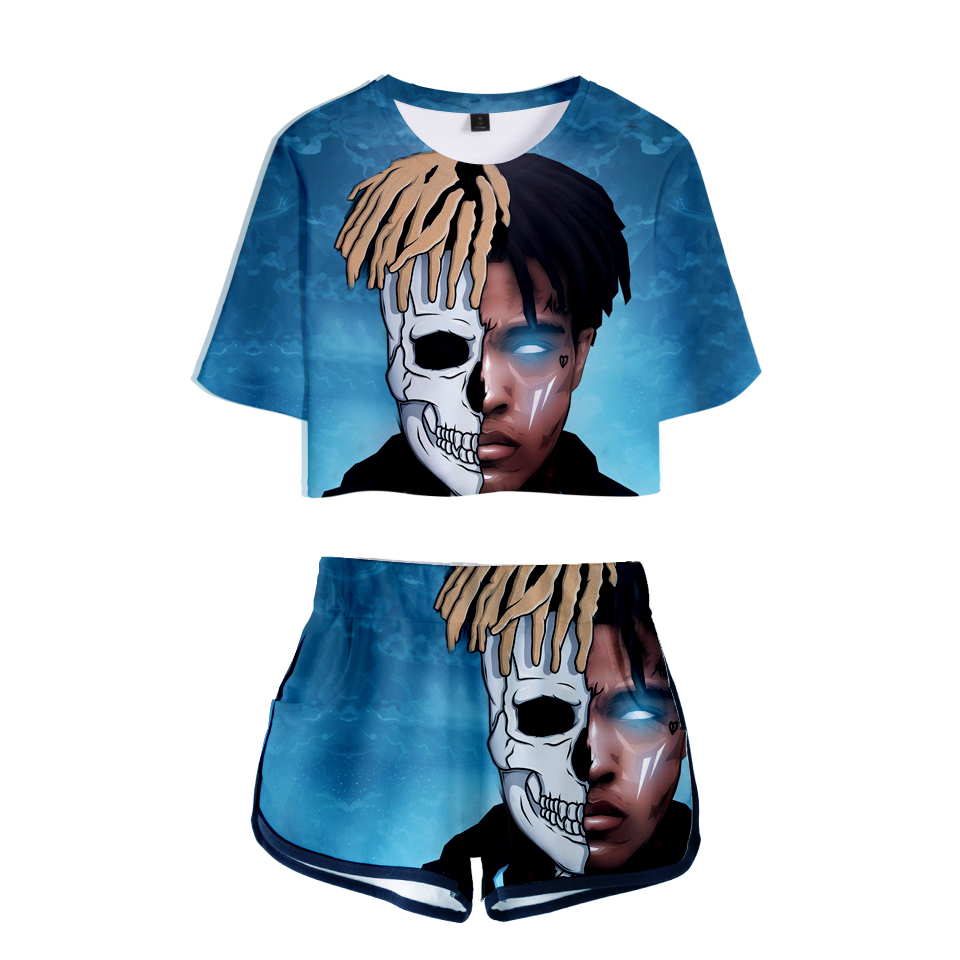 Fan 2019 New Xxxtentacion And Lil Peep Women Two Pieces Sets T-Shirt DJ Cole Oxxxymiron Funny Cool Tee Short Sleeve And Shorts