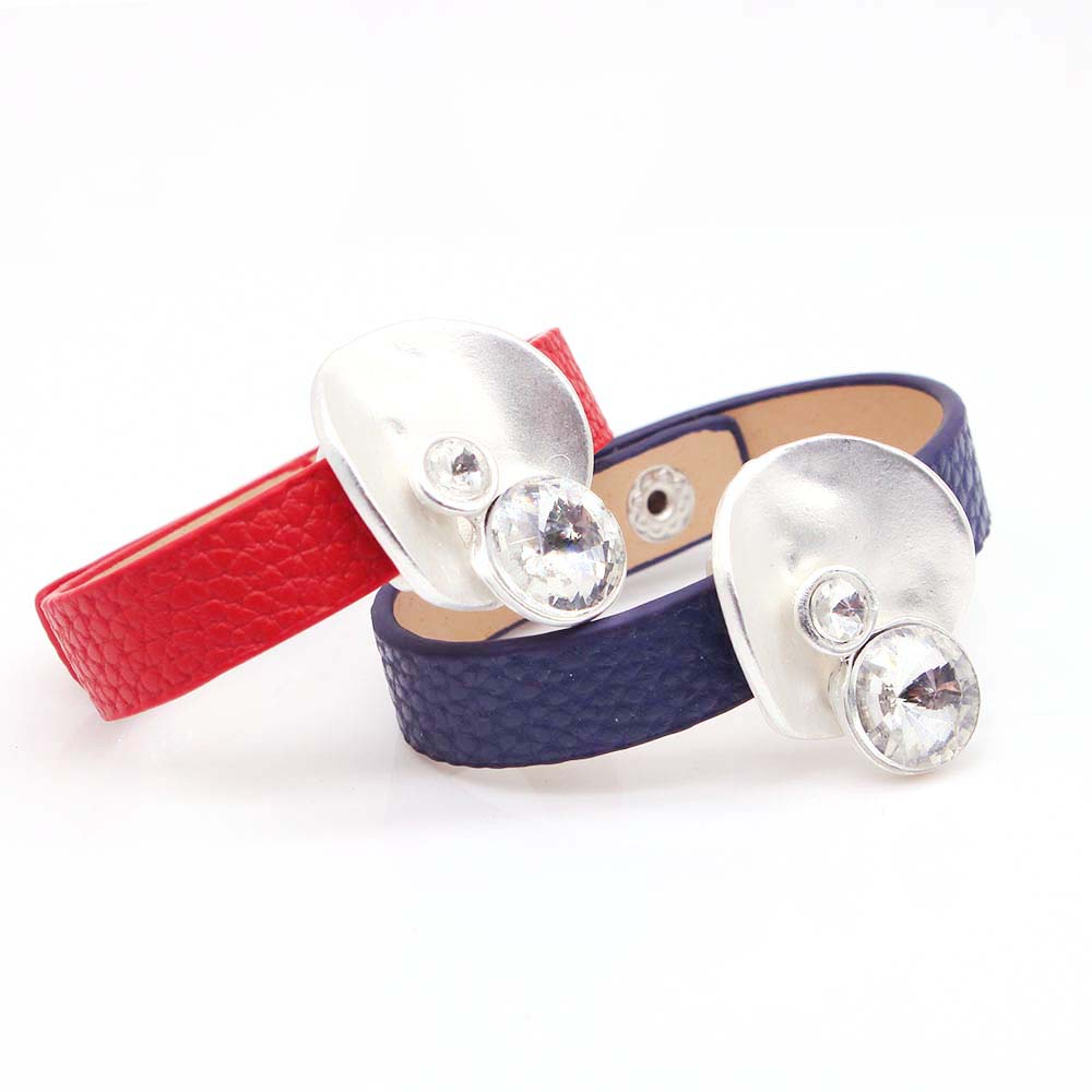 D D Fashion Leather Bracelet Rhinestone Multilayer Bracelets Bangles For Women Jewelry Punk Unique Gift in Cuff Bracelets from Jewelry Accessories
