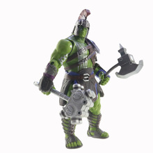 Good PVC Movie Anime Thor 3 Ragnarok Action Figure War Hammer Battle Axe Gladiator Hulk Movable Model Toy Boy Gift Collectibles