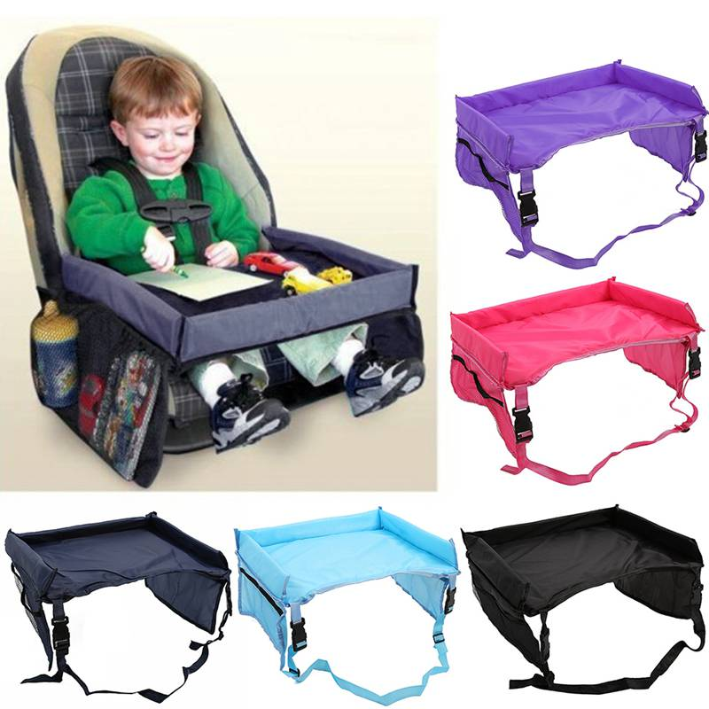 Kids Storage Seat Tray Waterproof Baby Safety Car Seat Table Infants Stroller Holder Lap Board Table For Children Baby Accessory