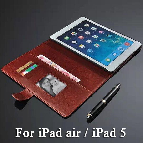 Luxury Pad Cases for i Pad 5 Case Magnet Chip for i Pad Air Flip Leather Cover Wallet Card Holder Brand New Tablet i Pad5 Case