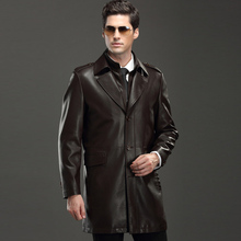 Hot Fashion Mens Faux Leather Jackets Long Leather Trench Coats For Sale Wholesale High Quality Autumn Spring Mens PU Coats C279