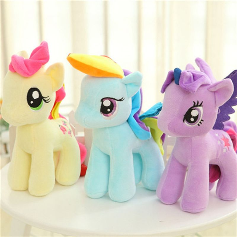 Kawaii Plush Toy Pony Soft Appease Sleeping Pillow Kids Room Decor Toy For Children's Birthday Gift