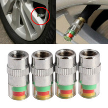MAYITR 4pcs/Lot Car Auto 36PSI Tire Pressure Monitor Valve Stem Cap Sensor Indicator Warning Alarm