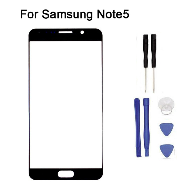 For Samsung Galaxy note5 N9200 Front Glass touch Screen Front Glass Touch Panel Replacement + tool